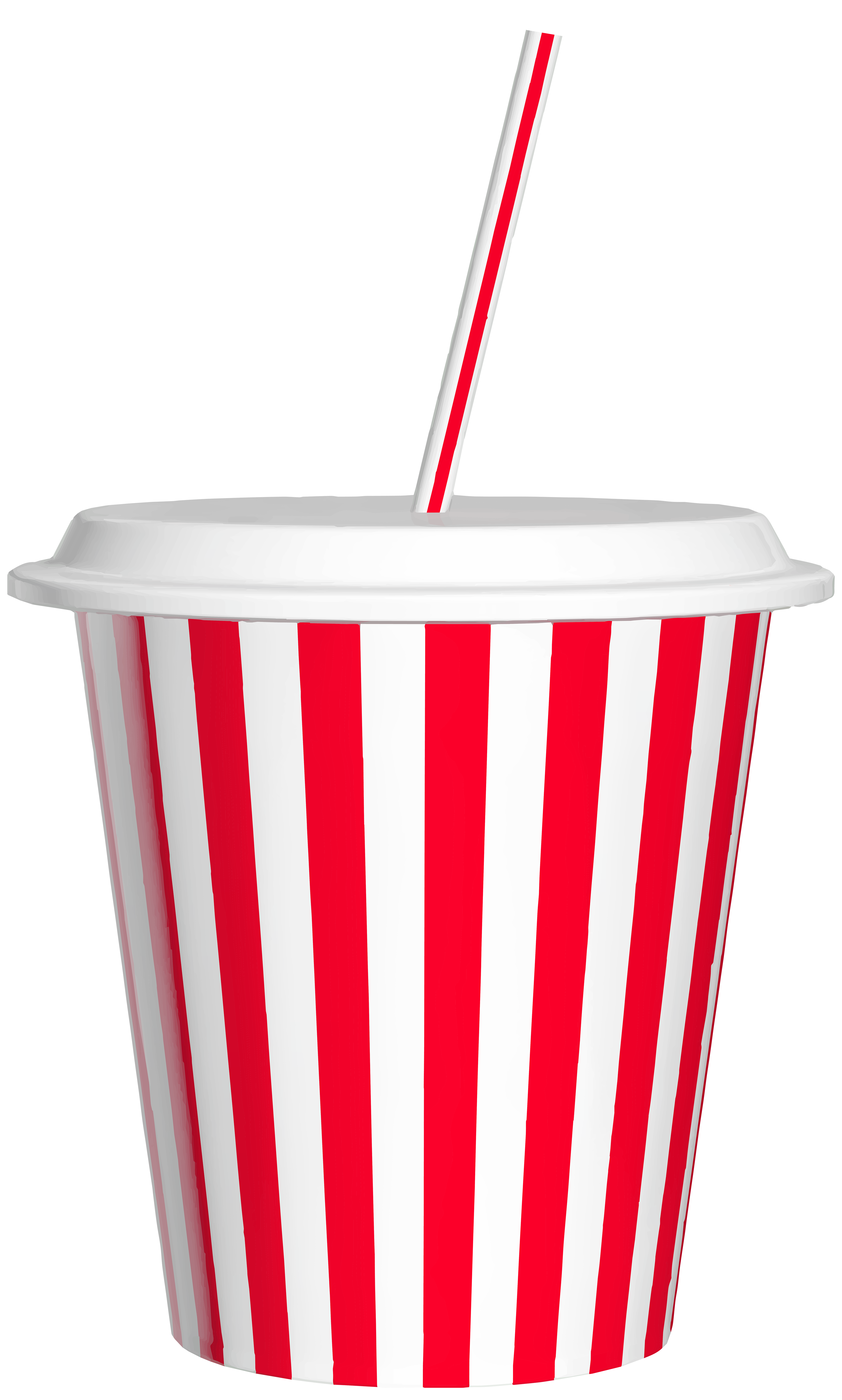 Fast food cup png. Drink with straw clip