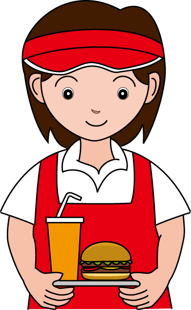 Fast food worker stock png. Workers clipart transparent frames