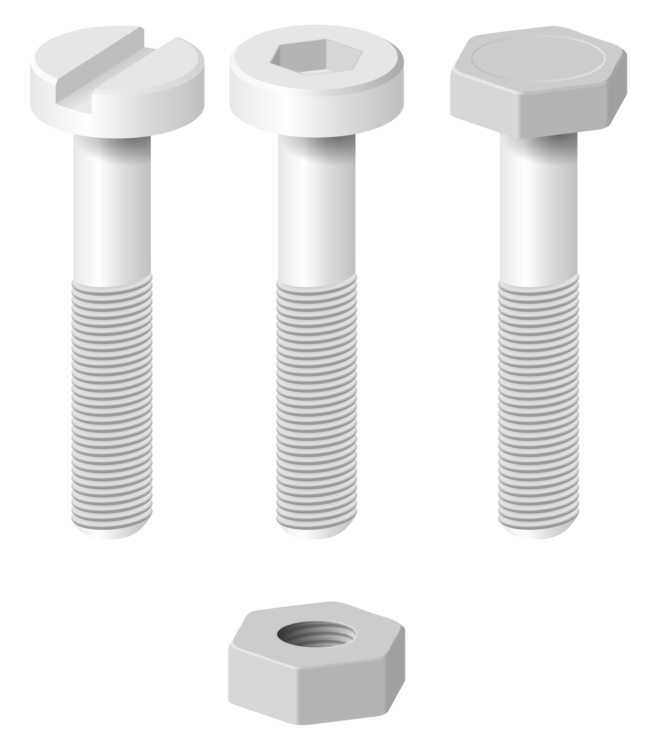 Nut clip screw. Bolt cylinder computer icons