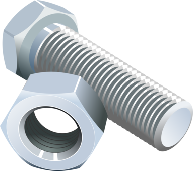 Fastener clip screw. Bolt nut nail free