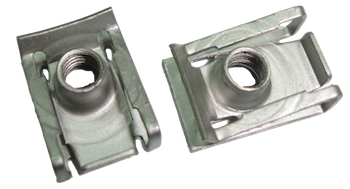 Fastener clip u. Type panel nuts with