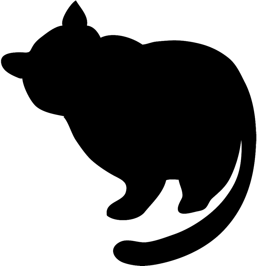 Fat cat png. Image silhouette black animal