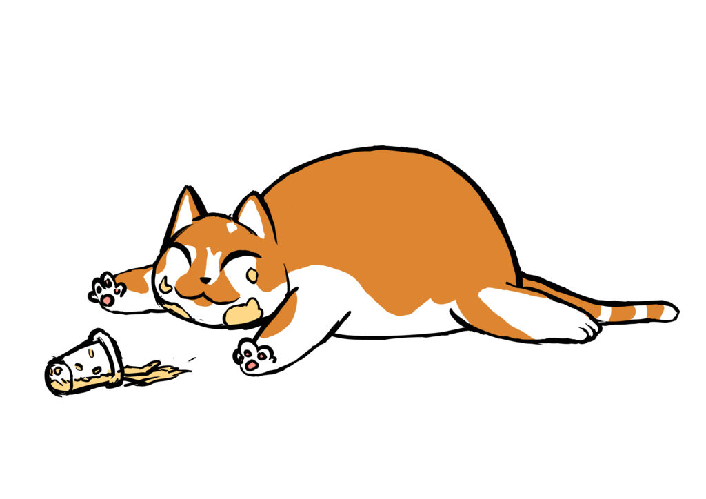 Fat cat png. By psychotic bambi on