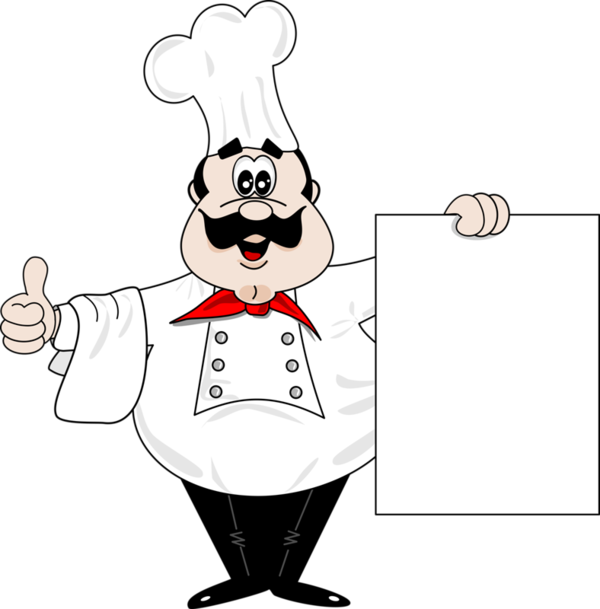 Labels cook png. Chef with blank sign