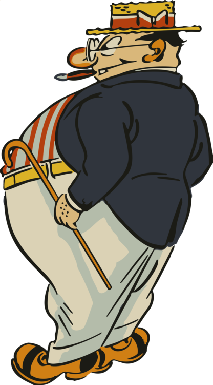 Cigar clipart animated. Drawing fat cartoon overweight