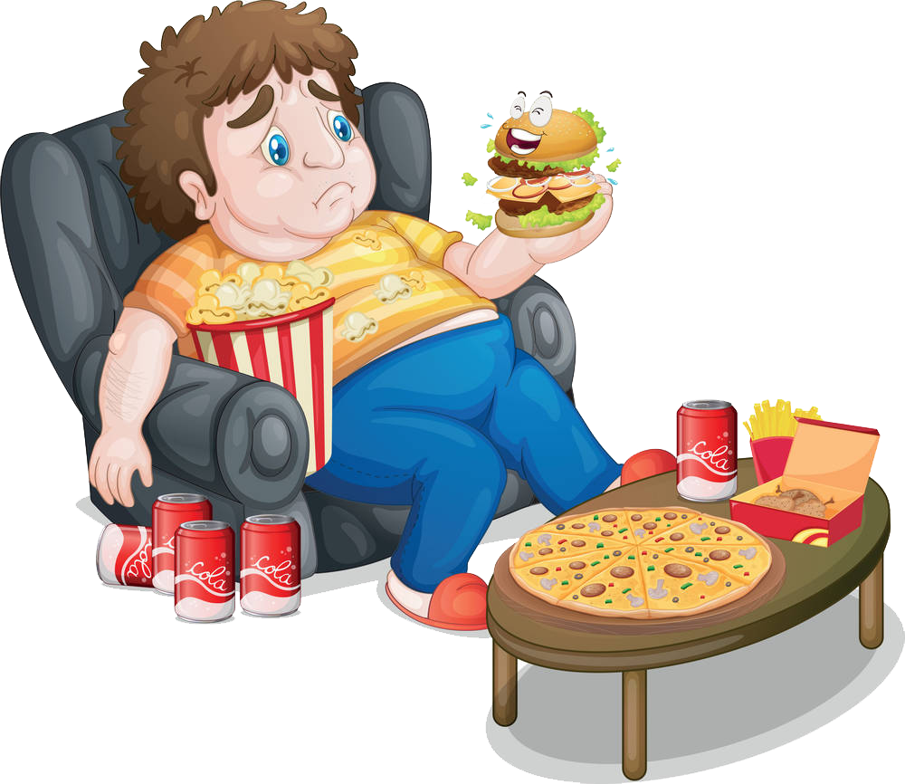 Fat clipart fat eating. Man images gallery for
