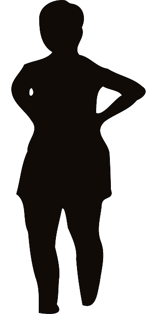 Fat clipart fat female. Woman silhouette