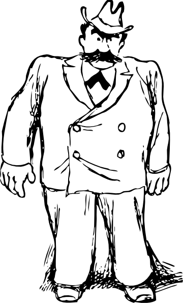 Fat clipart large man. Free people download clip