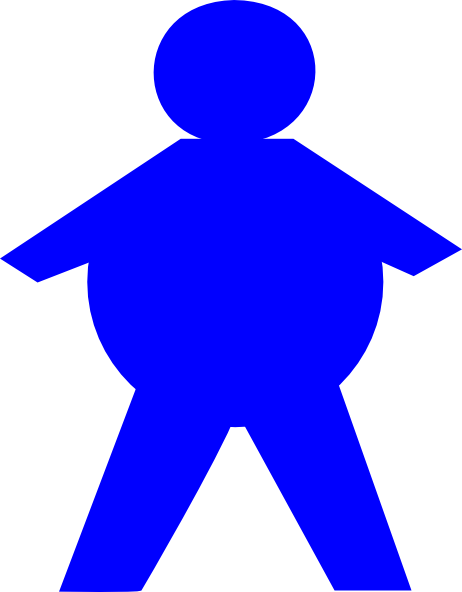 Fat clipart large man. Stickman clip art at