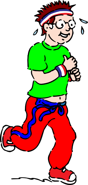 Fat clipart large man. Running clip art at