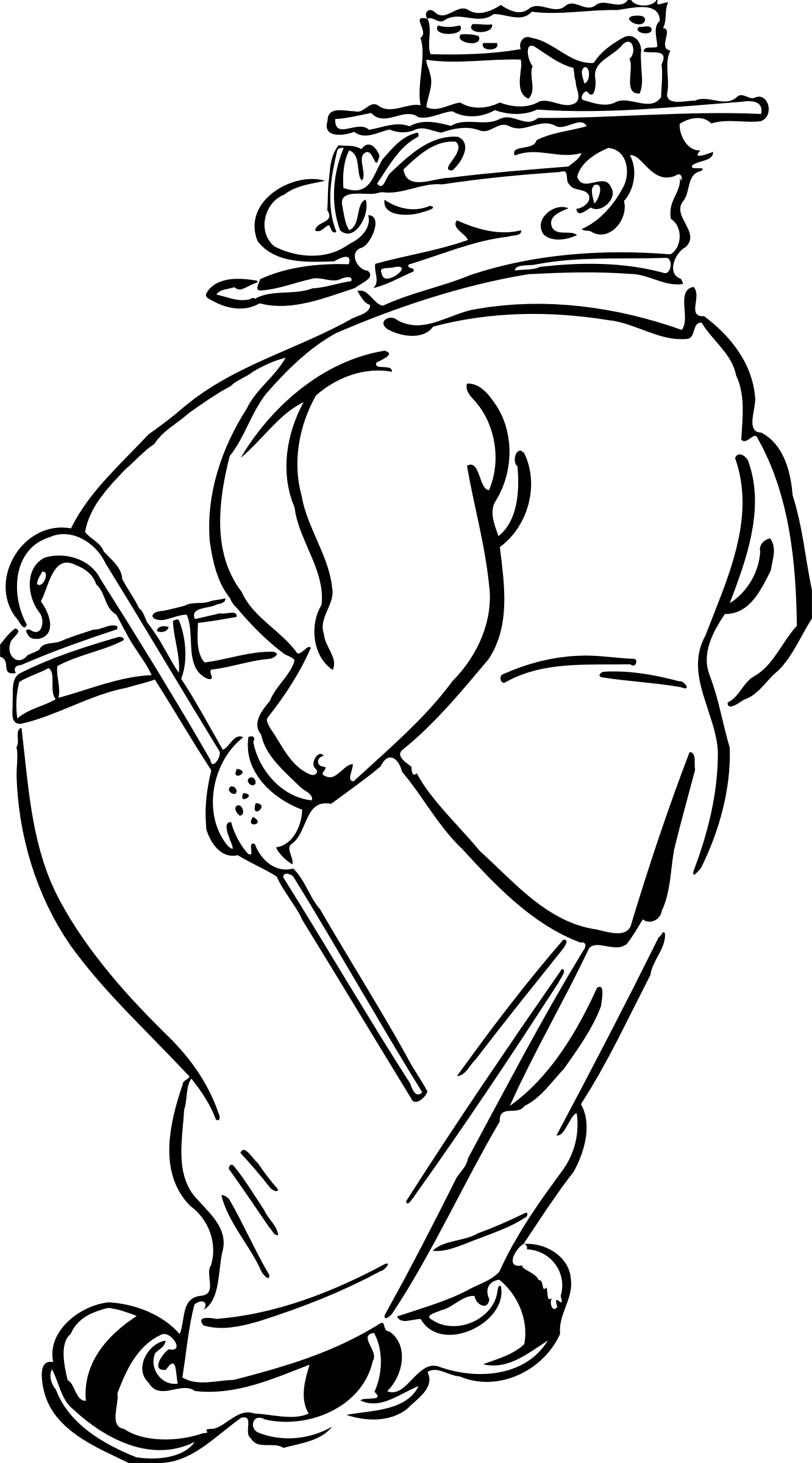 Fat clipart large man. With a cigar big