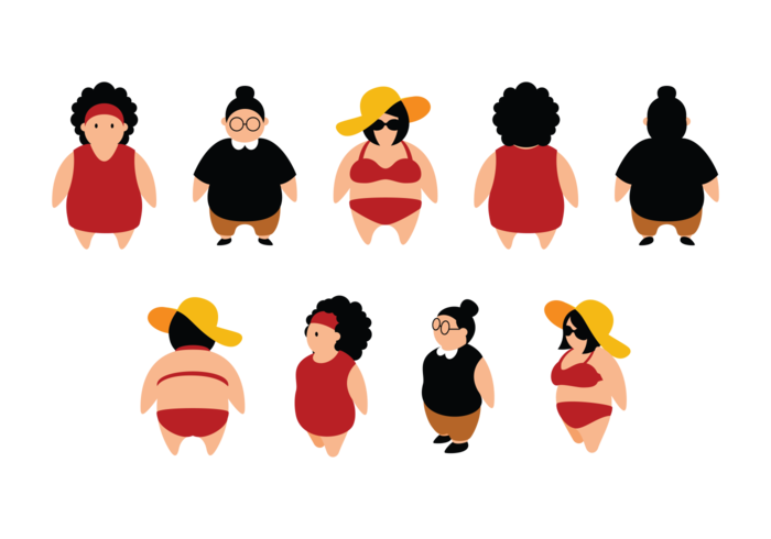 Fat girl png. Chubby silhouette at getdrawings