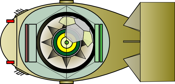 Fat man bomb png. Interior of atomic clip