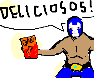 Fat mexican png. Wrestler eating cheetos drawing