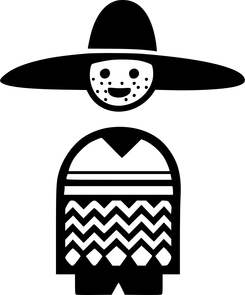 Fat mexican png. Svg icon free download
