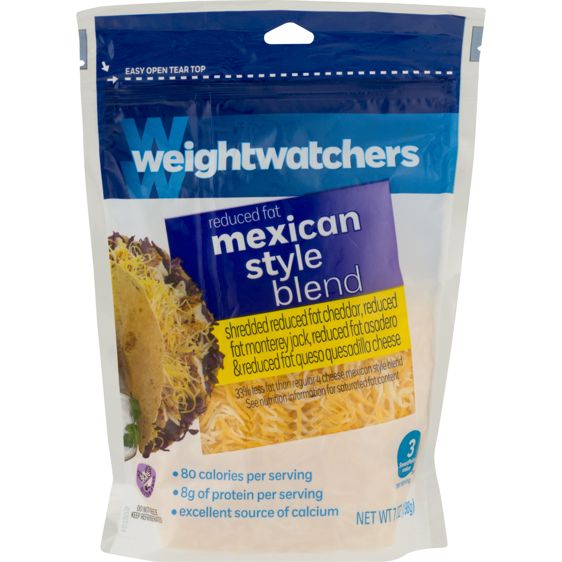 Fat mexican png. Weight watchers shredded cheese