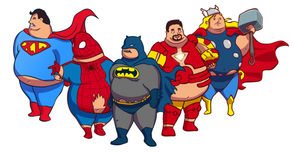 Fat superhero png. Les super h ros
