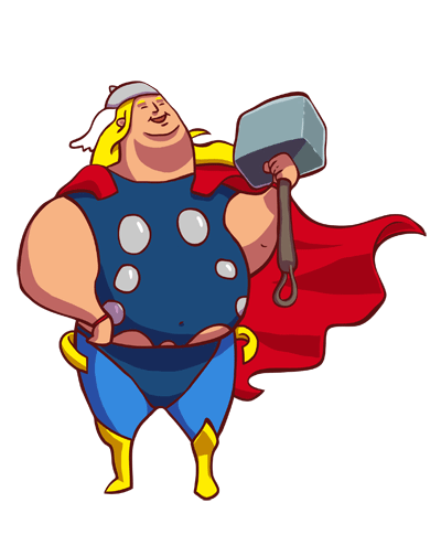 Fat superhero png. Thor what if superheros