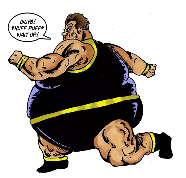 Fat superhero png. Is there a or