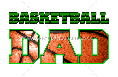 Basketball dad png. Production ready artwork for
