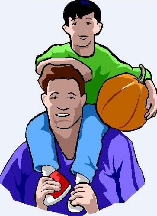 Father clipart basketball. Son