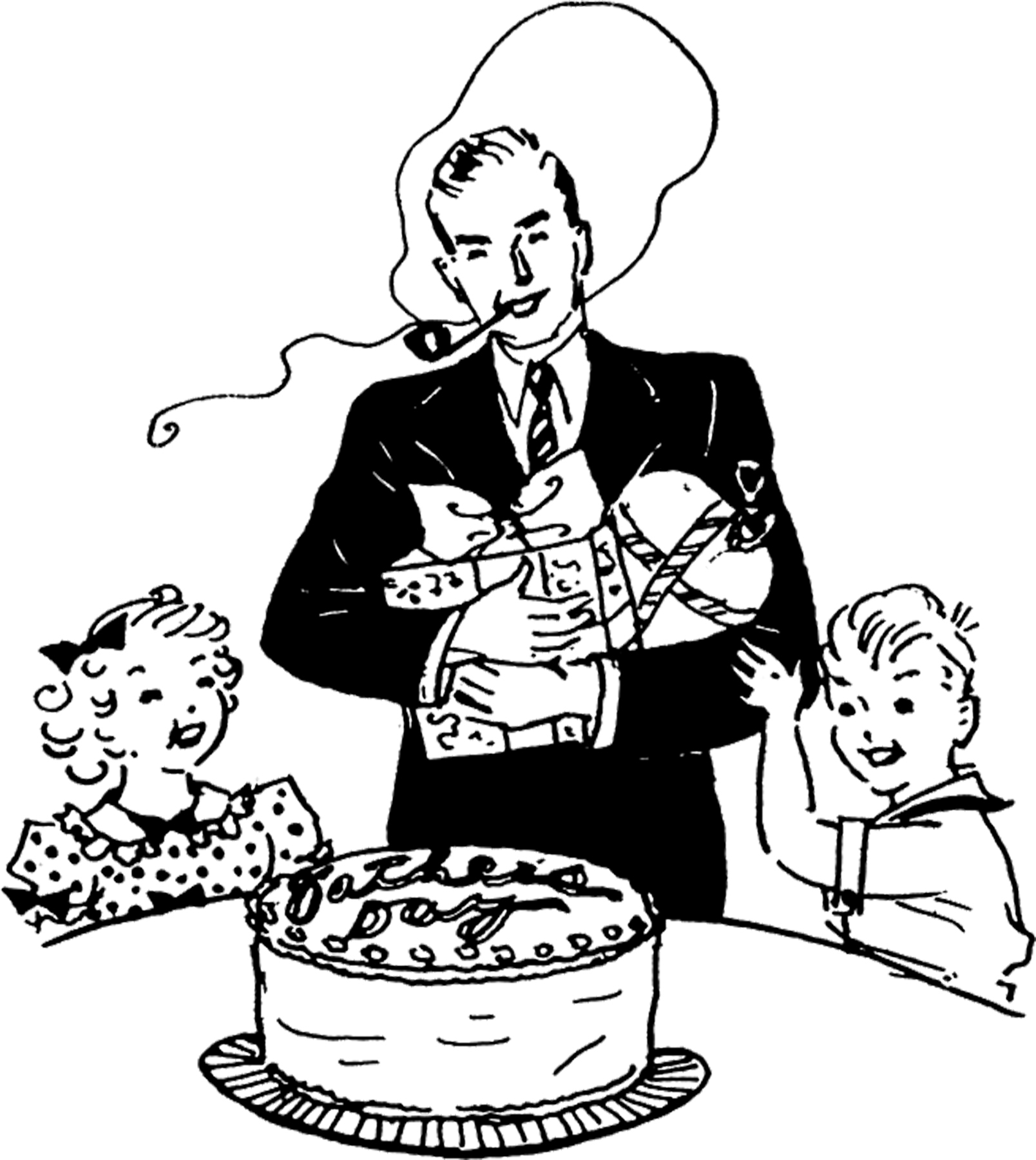 Father clipart far. S day cake image