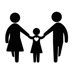 Father clipart mom dad. Mother and family happy