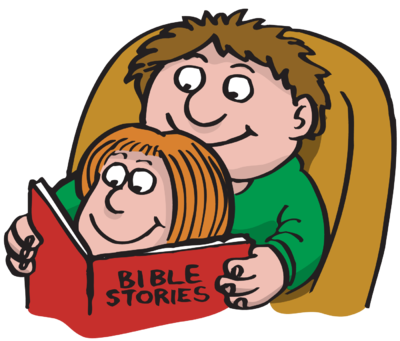 Father clipart reading. Image dad bible stories