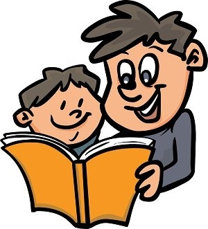 Father clipart reading. Kids at getdrawings com