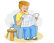 Father clipart reading. Search results for newspaper