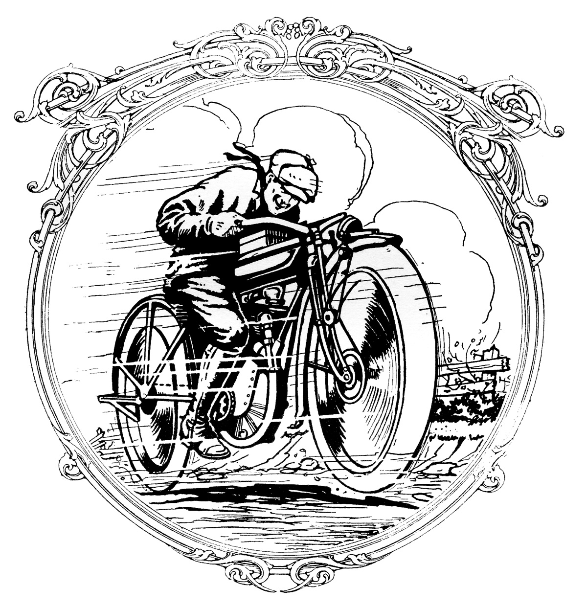 Father clipart retro. Vintage clip art motorcycle