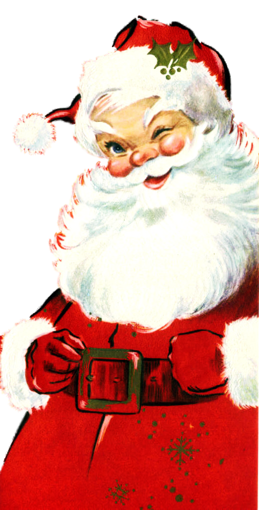 Father clipart retro. Vintage santa my favorite