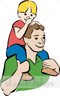Father clipart. Colorful and son fathers