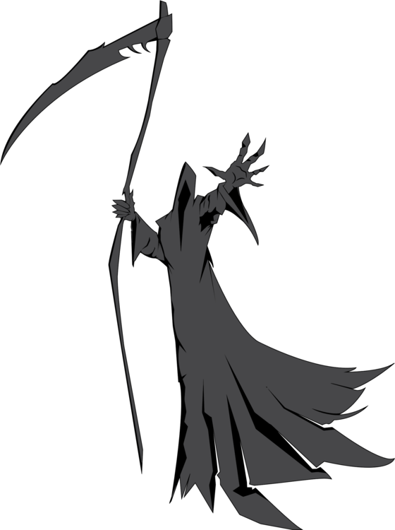 Weapon drawing scythe. Death father time destroying