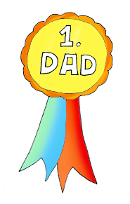 Fathers clipart. Happy day medal first