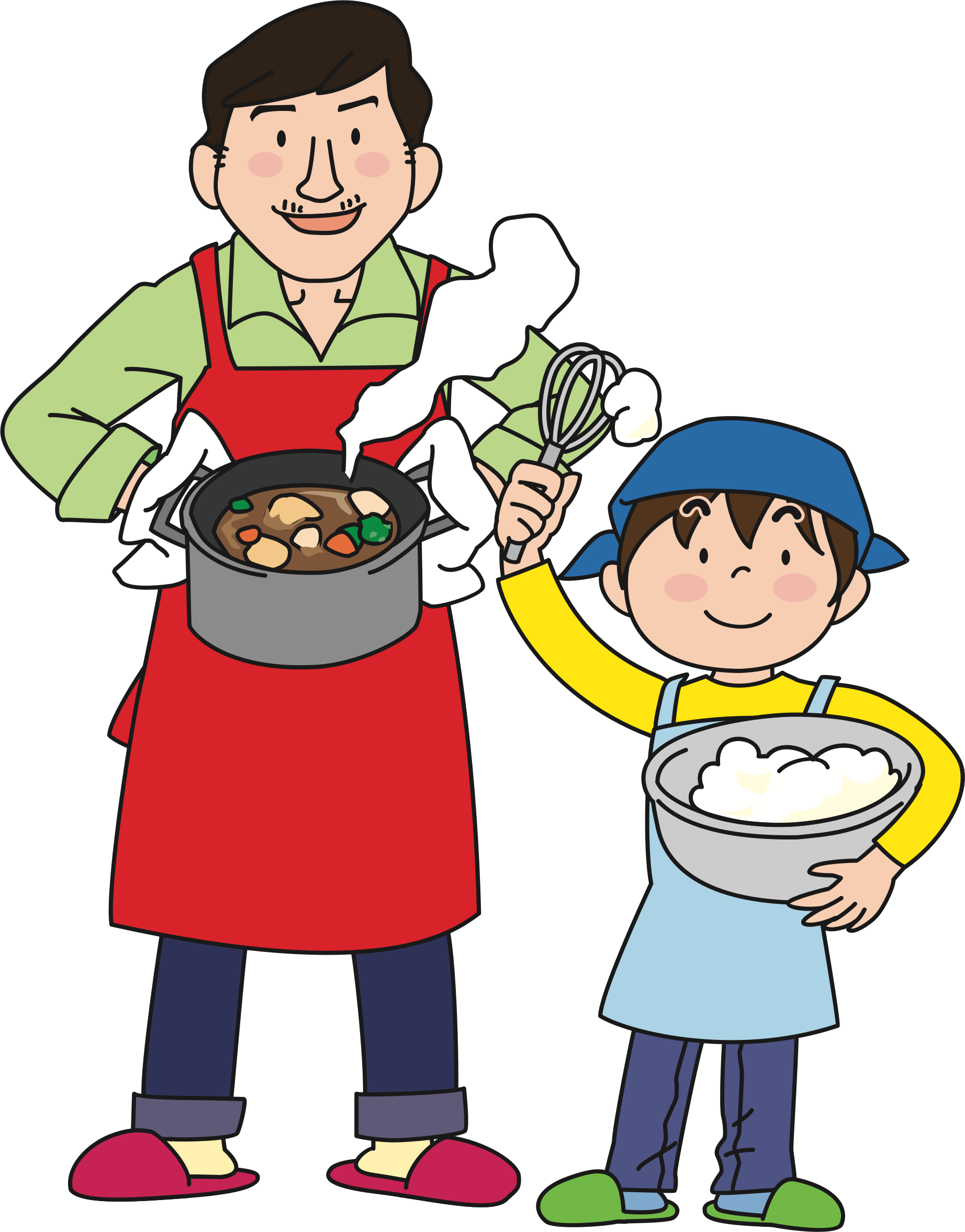Fathers clipart cooking. With dad big image