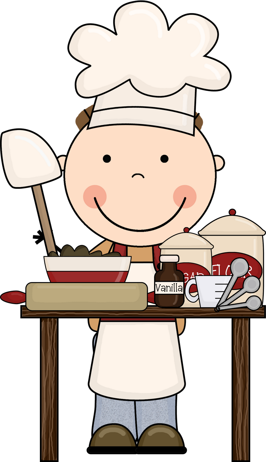Cooking clipart happy cook. Free pictures for kids