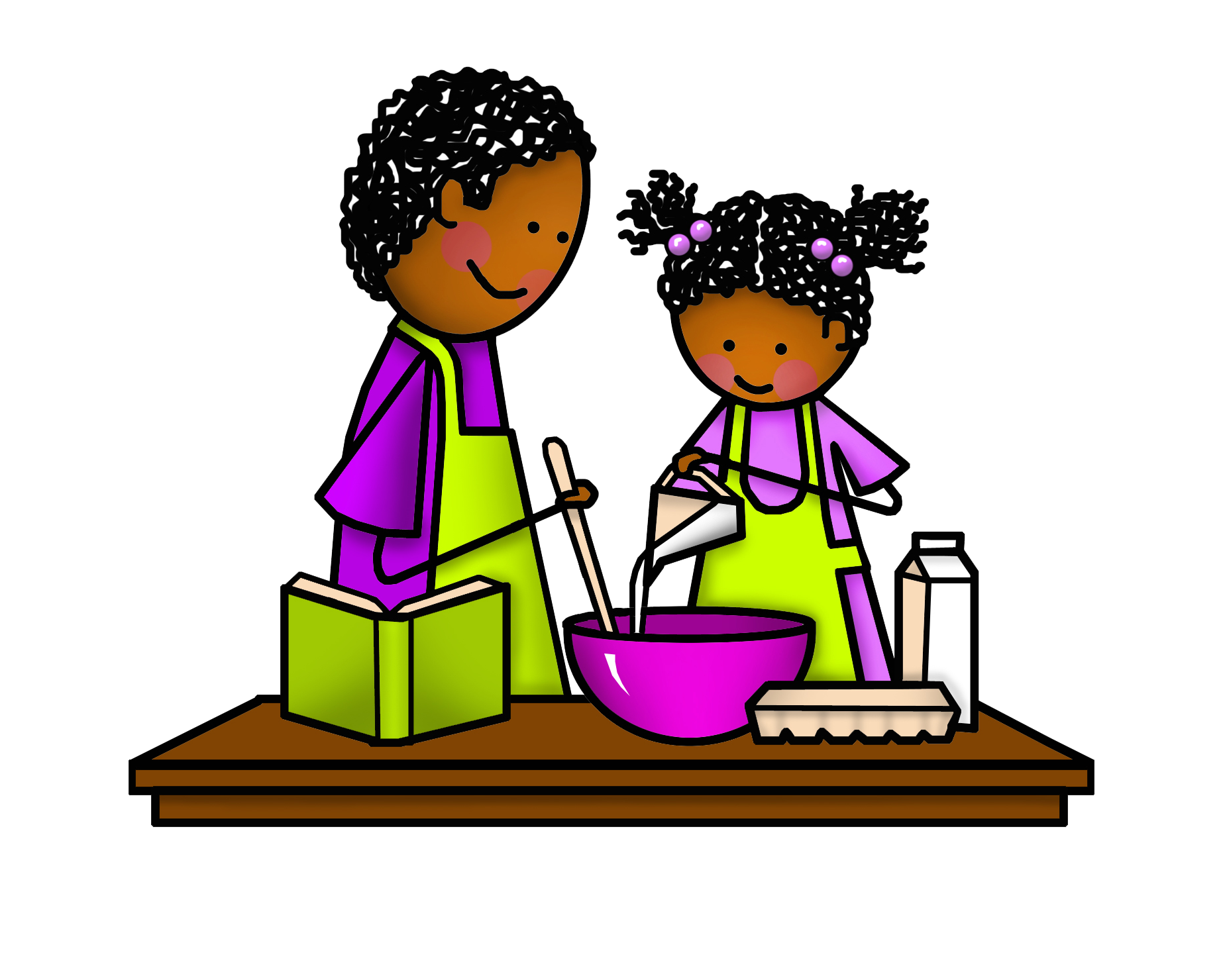 Fathers clipart cooking. Dad and daughter png