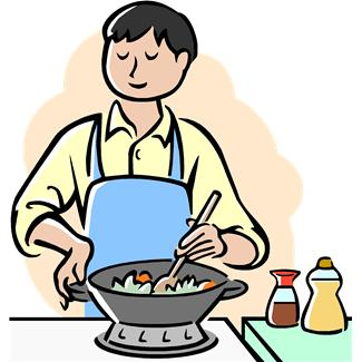Fathers clipart cooking.