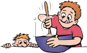 Fathers clipart cooking. Dad