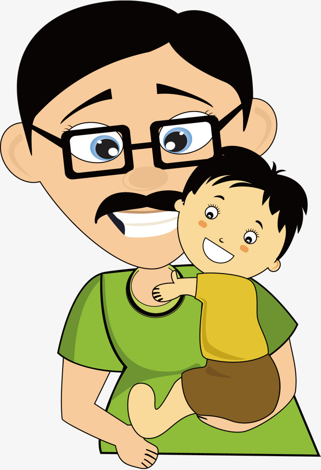 Fathers clipart cute. Father and son child