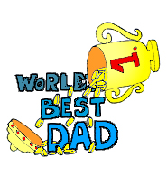 Fathers clipart good dad. Happy day medal first