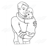 Fathers clipart hugging. Abeka clip art dad