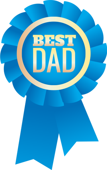 Fathers clipart ideal. Best dad badge wall