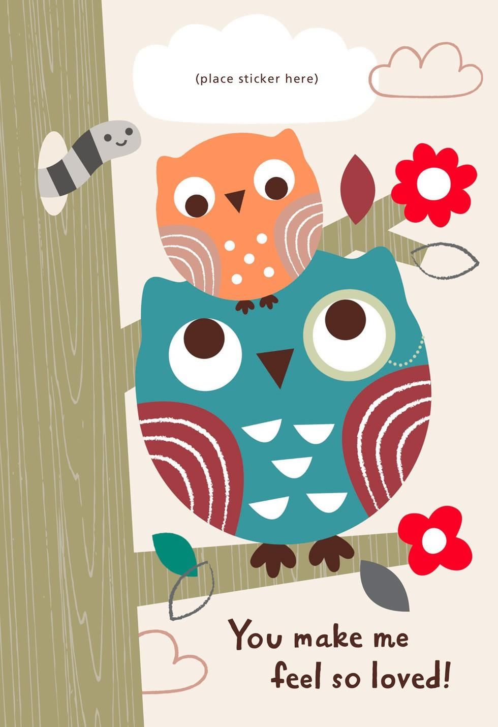 Fathers clipart owl. Two owls customizable father