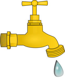 Faucet clipart. Dripping clip art at