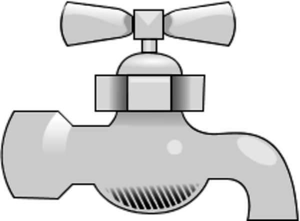 Faucet clipart. Water and png clip