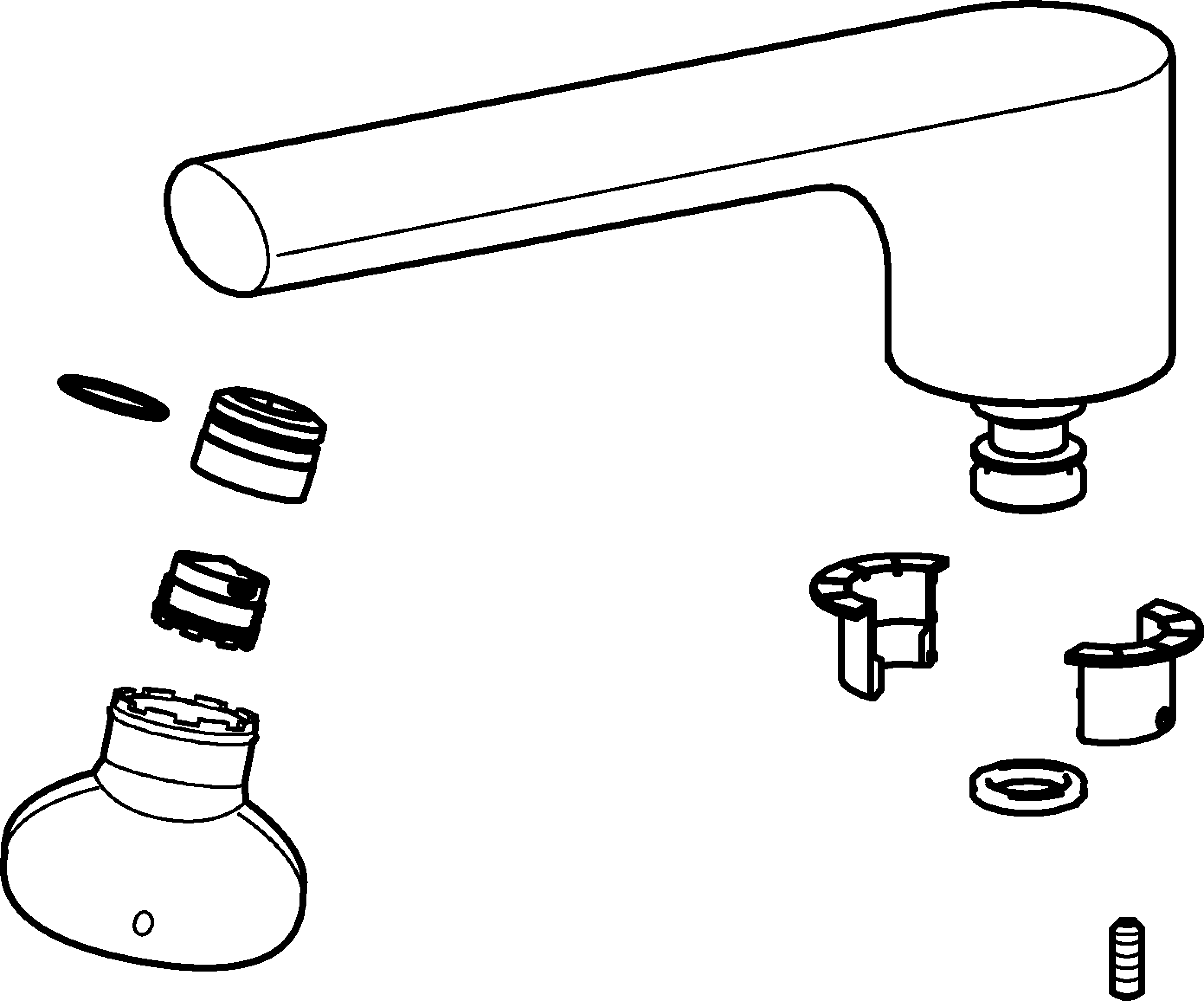 Faucet clipart bathtub faucet. Products hansa swivel spout