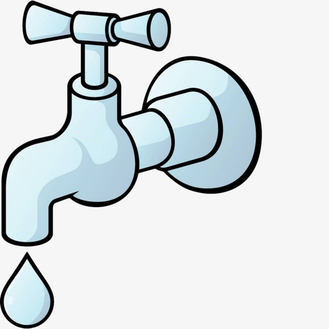 Faucet clipart blue. Hand painted conserve water