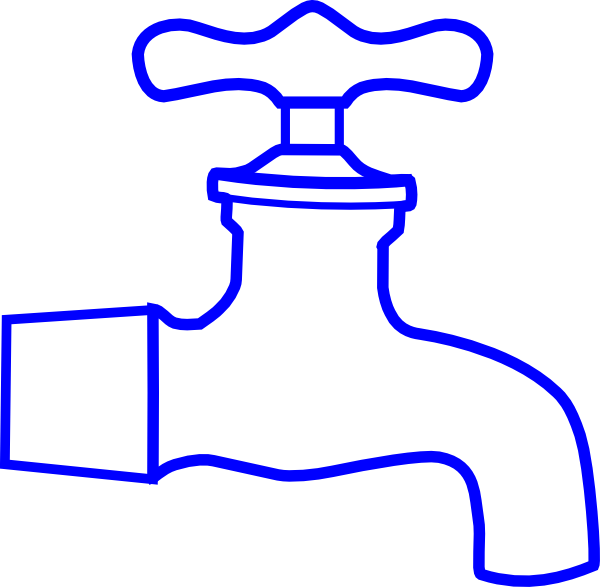 Faucet clipart water spout. Blue clip art at